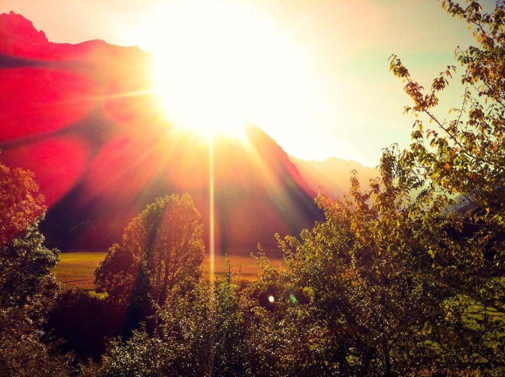 Posta de sol al Pirineu